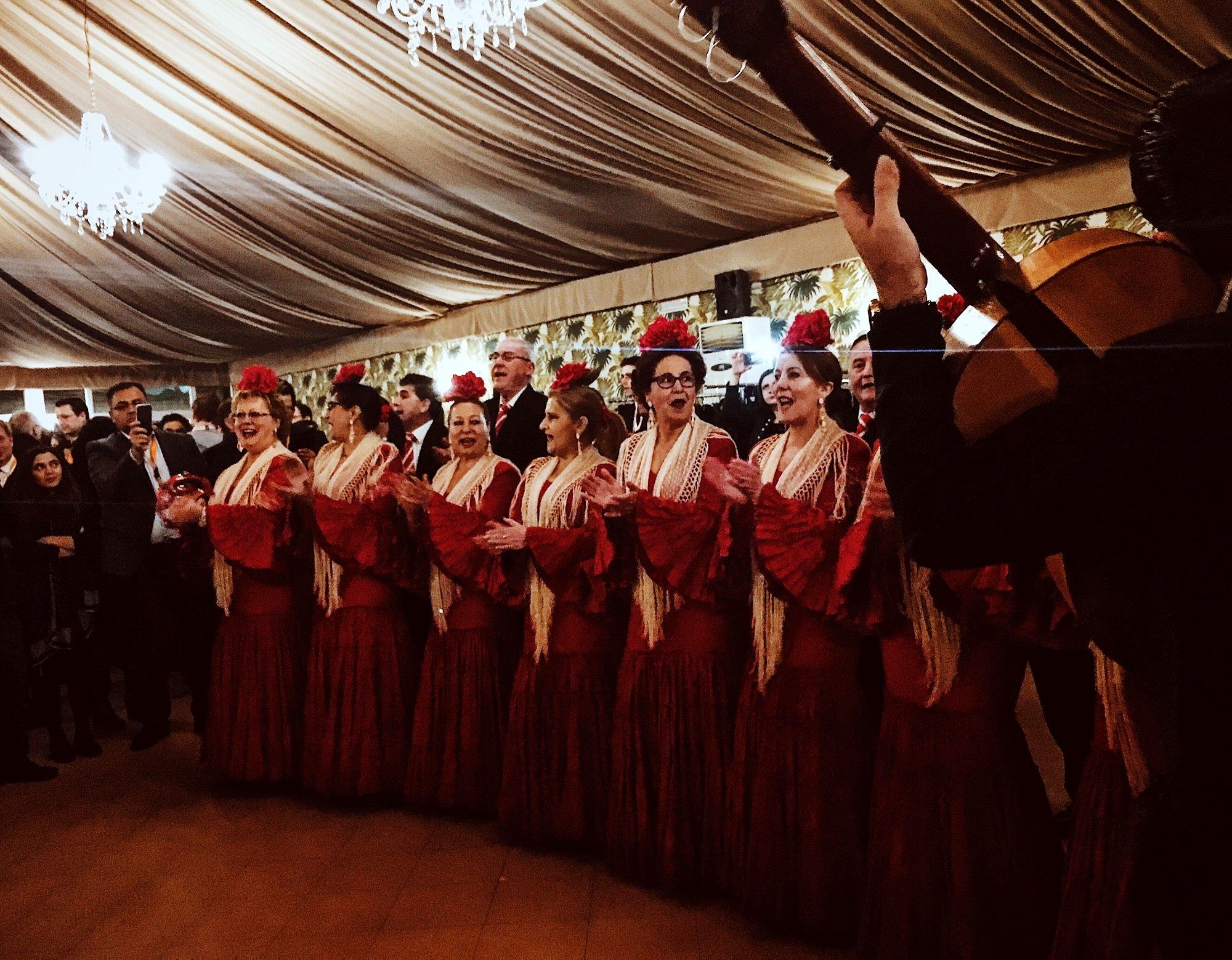 Flamenco dancers at the gala dinner