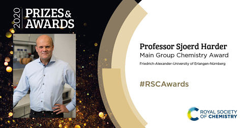 "Towards entry ""Prof. Dr. Sjoerd Harder receives Royal Society of Chemistry Award"""